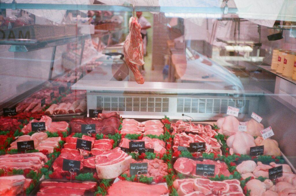 carne di un macellaio locale