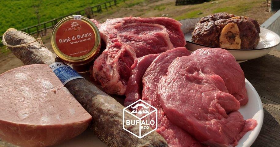 Box di prodotti a base di carne di bufalo