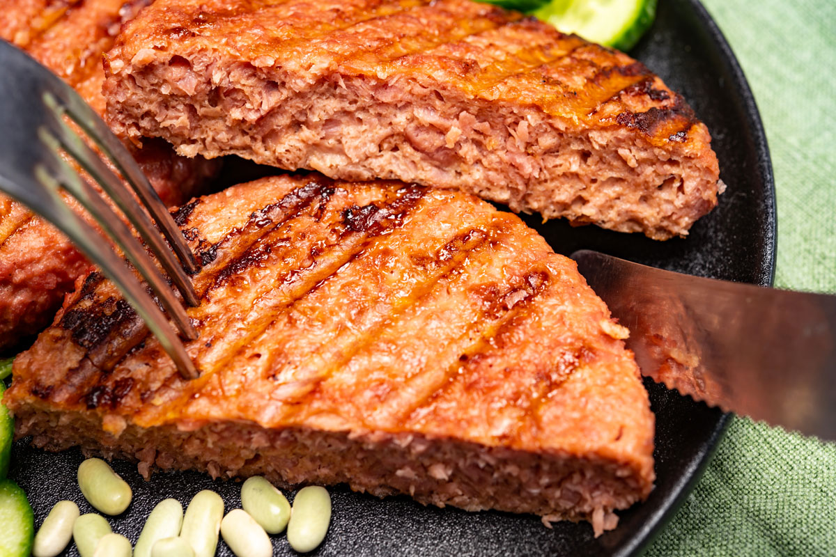 hamburger di carne vegetale