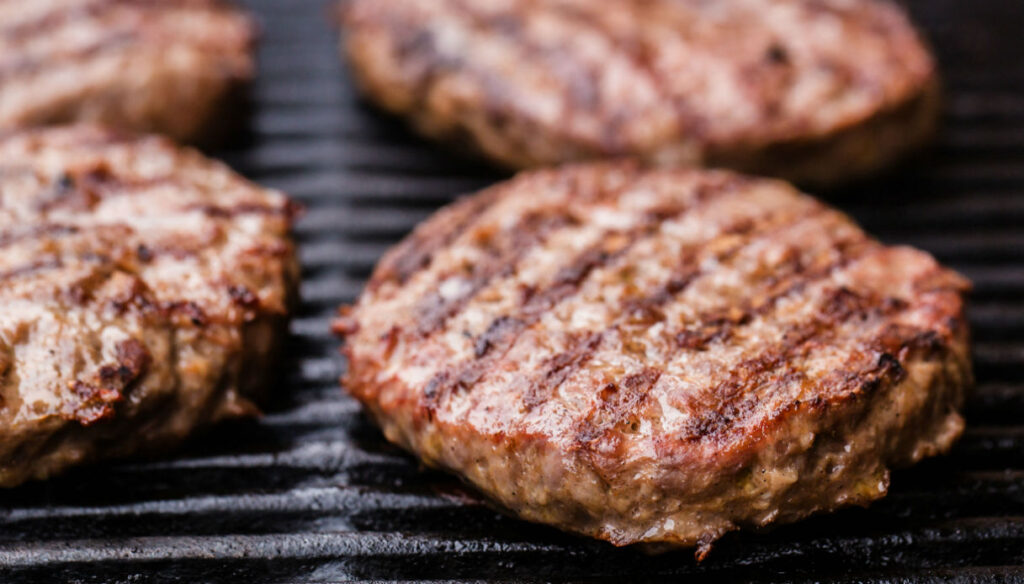 hamburger di carne macinata